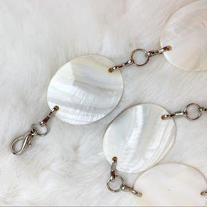 Boho pearlized shell chain metal belt
